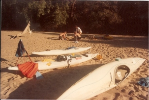 Figtree campsite (see 1990 when we stayed here again - on Andre's rafting trip)