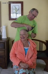 Koos fixes the hair thing. Aitch makes it light for the kids