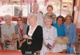 Back - ___Sharratt, Jean Coleman - Front - Val Kool?, Brenda Grant, Hilcove?, Mary Swanepoel, Stella Fyvie, __?