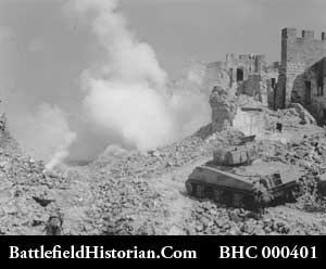 Monte Cassino bombed
