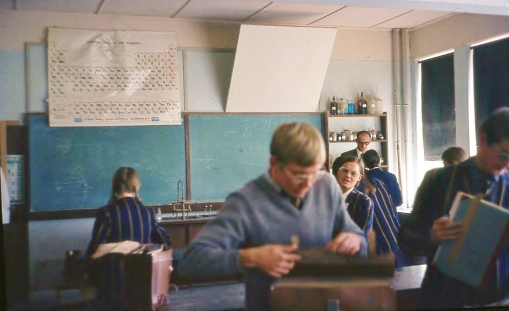 Science class - Elsie Campher watches me searching - Jean Roux on right