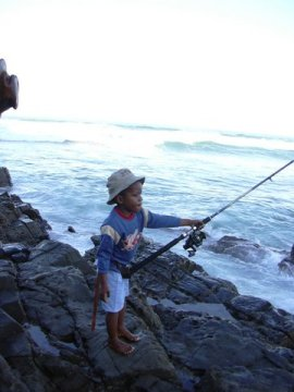 fishing at coffee bay