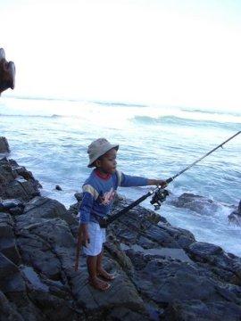 fishing at coffee bay