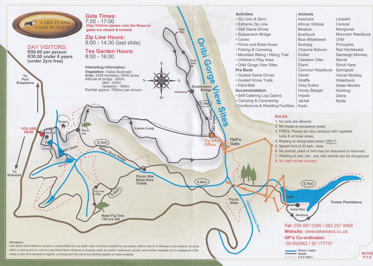 Lake Eland map small