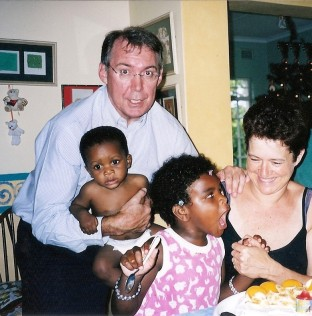 Mom's birthday 2003. Jess about to snuff the SINGLE candle!