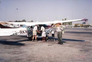 Maun airport heading for Xudum