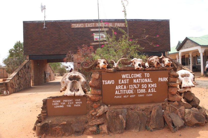 Tsavo East gate