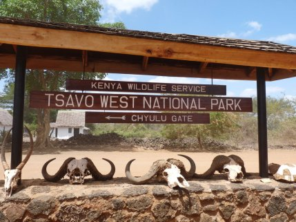 Tsavo West gate