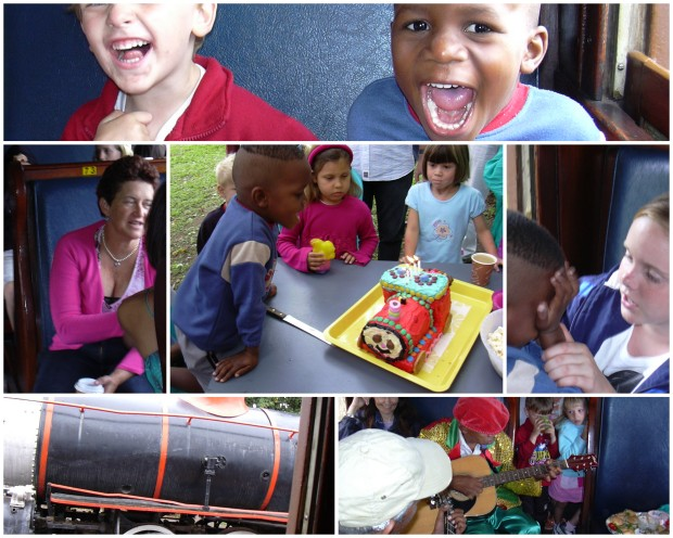 Tom 4th bday Inchanga Steam Train collage 2