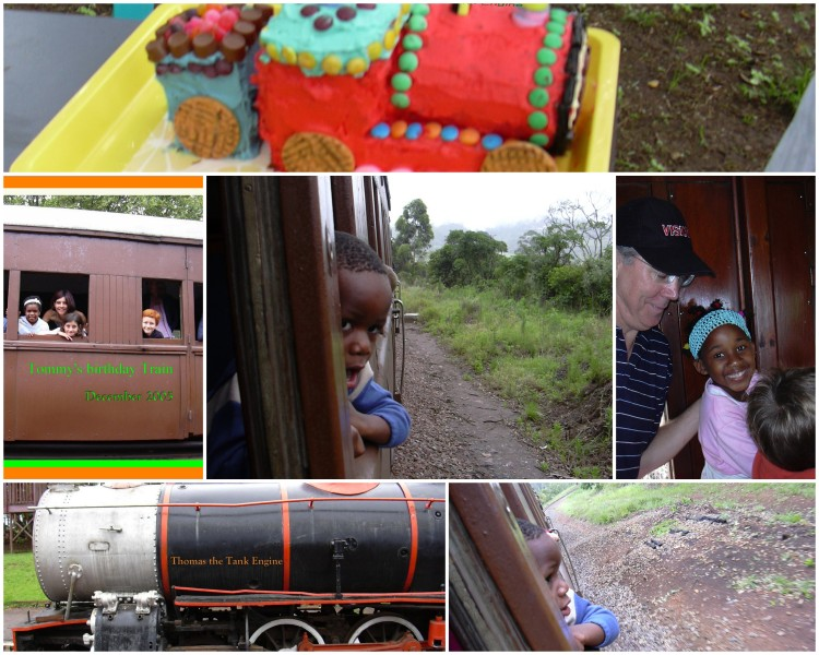 Tom 4th bday Inchanga Steam Train collage 1