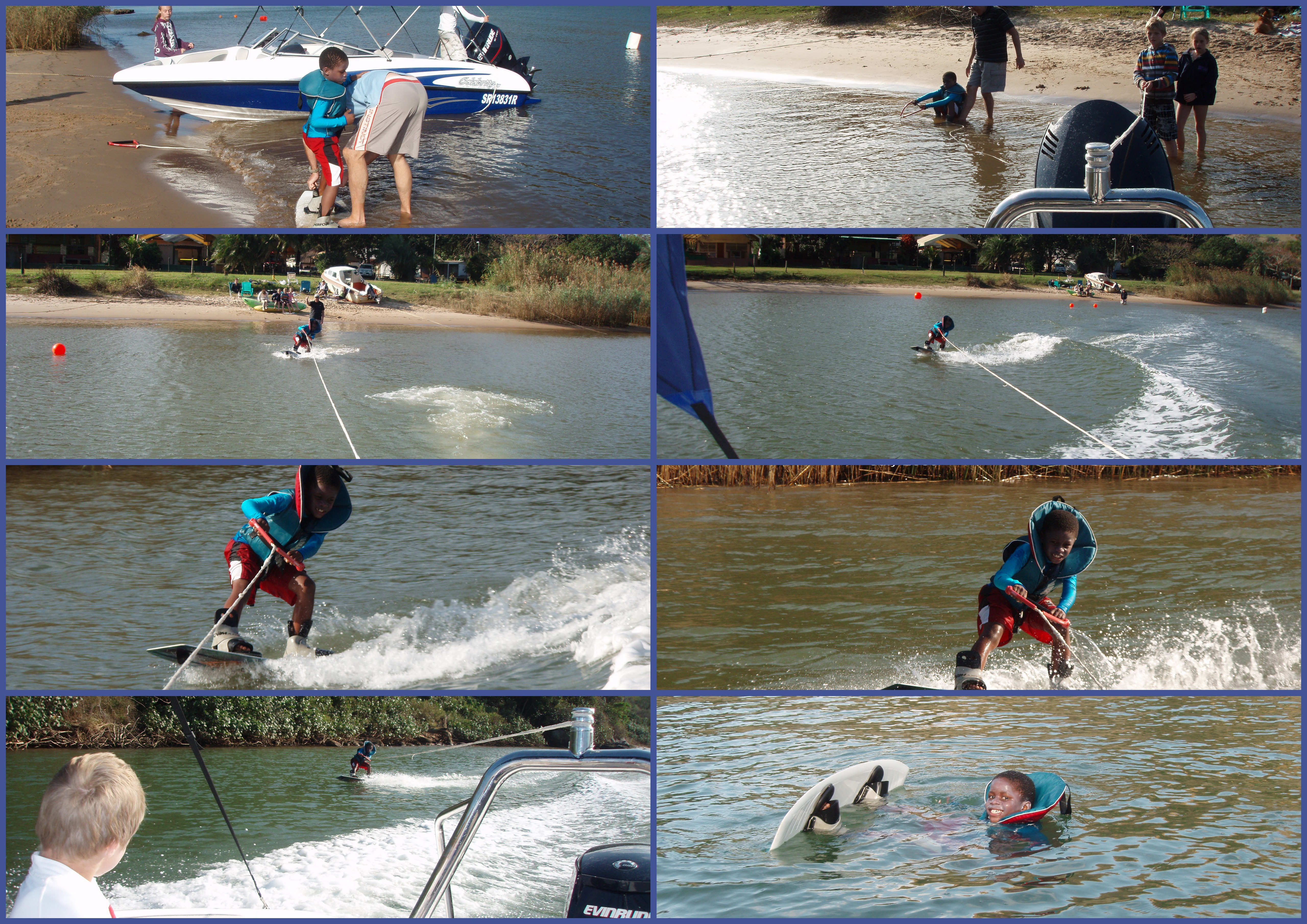 Tom's First Wakeboarding collage