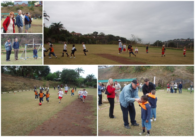 Tom first soccer tournament collage 1