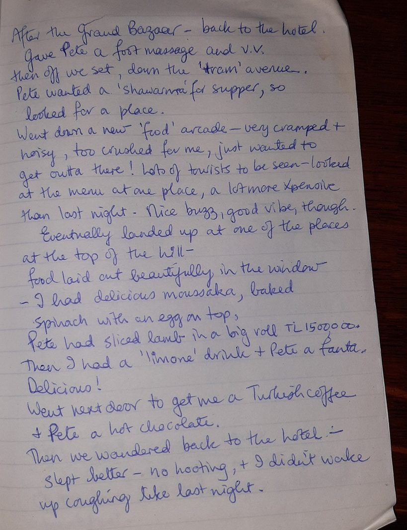 Aitch diary Istanbul 1998 4